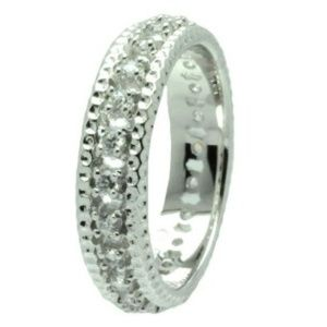 Jewelry - Channel Set Clear CZ Eternity Ring Band 5 6 7 8 9